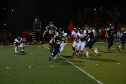 San Juan Hills' junior running back Cole Suchesk (32) ran for 51 yards against San Clemente on Aug. 28. Photo: Connor Schmitt