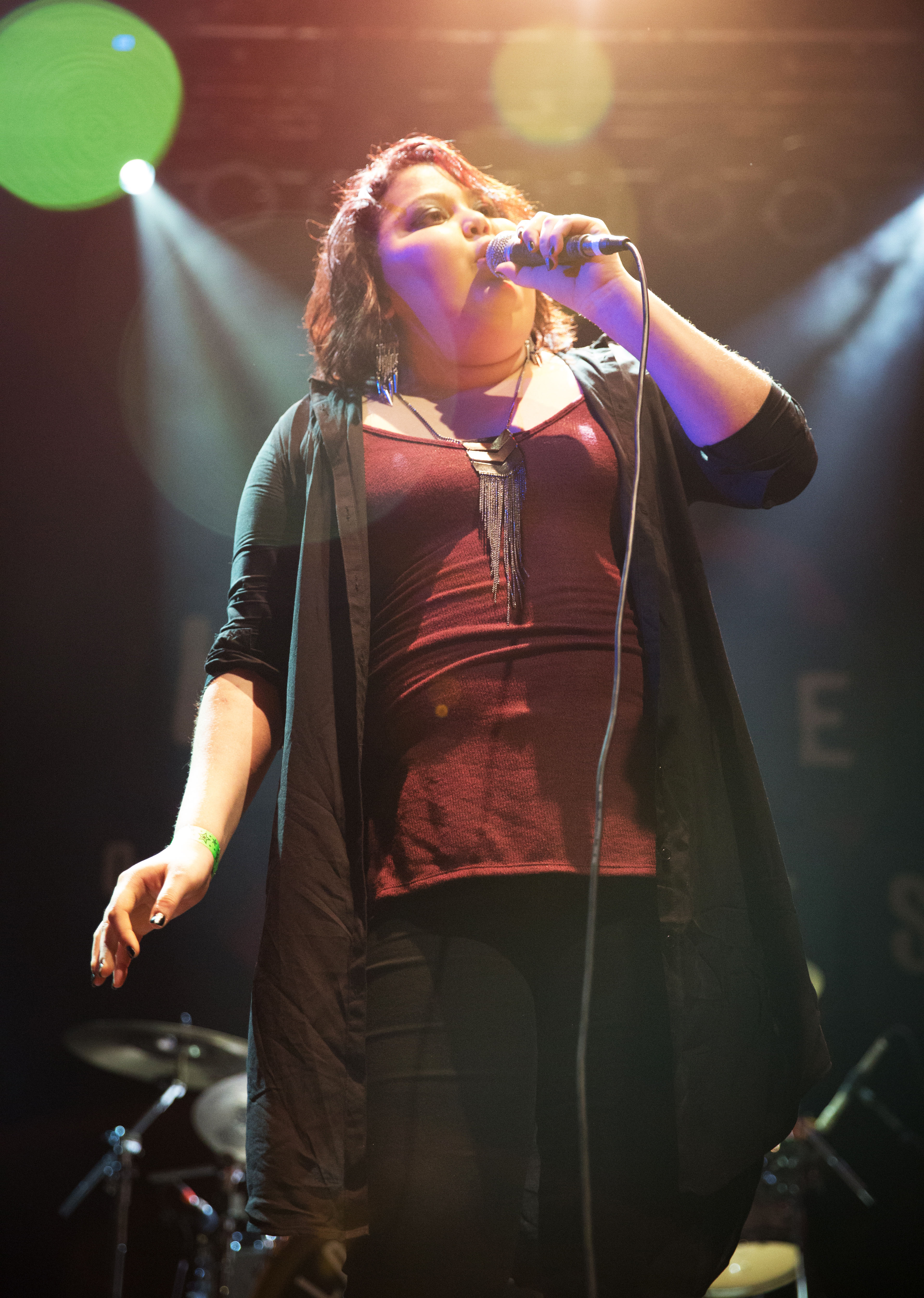 Make-A-Wish Orange County and the Inland Empire granted 15-year-old Victoria Venega's wish to be a singer with the help of the Los Rios Rock School. Photo: Gemina Gowdy