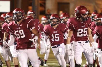 The St. Margaret's football team enters the 2015 season as the reigning CIF-SS East Valley Division champions. Photo: Courtesy St. Margaret's Athletics