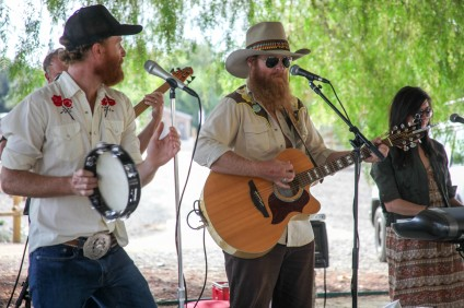 The Kelly Boys Band performs live country music at the Fiesta Association's Farewell to the Swallows barbecue on Oct. 24. Photo: Allison Jarrell