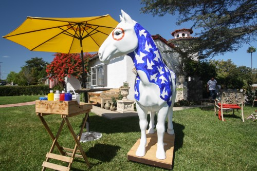 Guevara's horse features the story of Zorro as well as San Juan symbols like swallows and ladybugs. Photo: Allison Jarrell