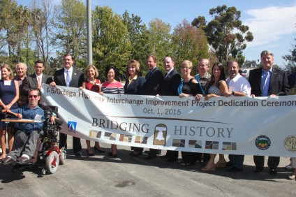 Regional and local community leaders gather for a photo following an Oct. 1 ceremony celebrating the completion of the I-5/Ortega Highway Interchange. Photo: Allison Jarrell