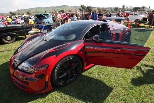 The Bugatti Veyron Super Sport was one of more than 400 cars displayed at the 2015 SJC Rotary Car Show in San Juan Capistrano. Photo: Allison Jarrell