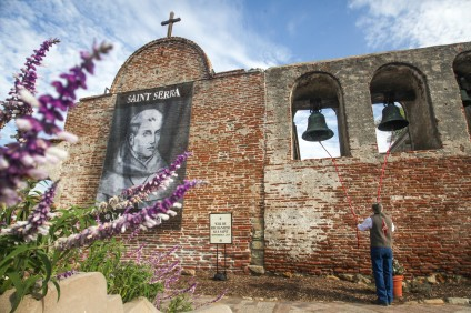 Junípero Serra's canonization was celebrated in San Juan Capistrano, but not without controversy. Photo: Allison Jarrell