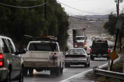 Near Reata Park on the east side of town, Ortega Highway widens from two lanes to four lanes. The City Council recently voted to keep the two-lane 0.9-mile section of the highway as it is, rather than completing the widening. Photo: Allison Jarrell