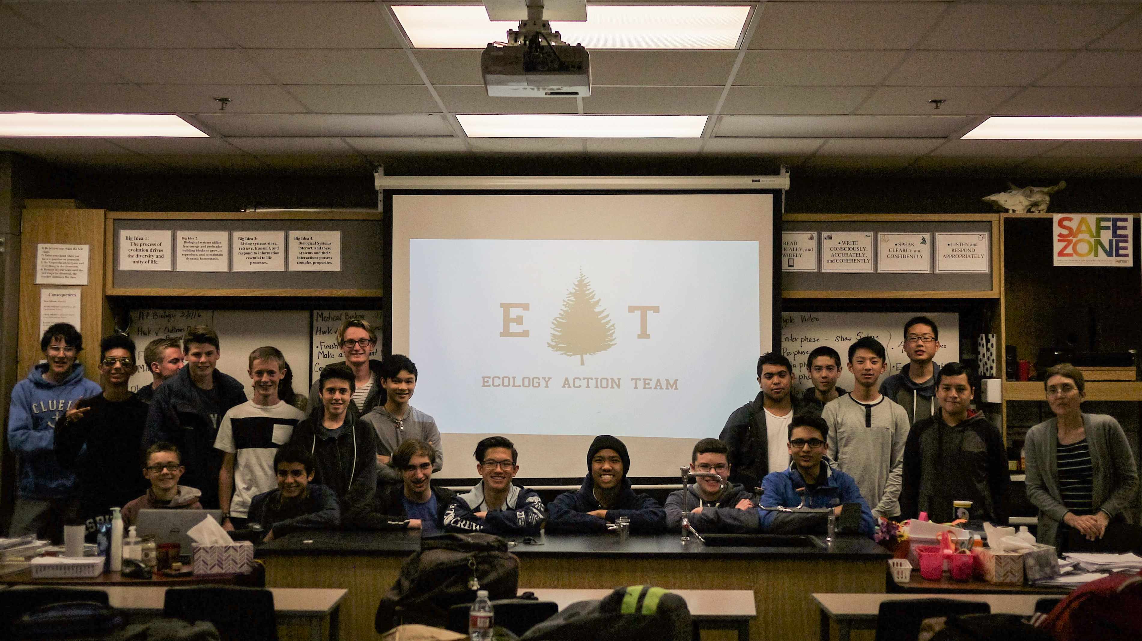 The san juan hills high school ecology action team is leading the charge to push for