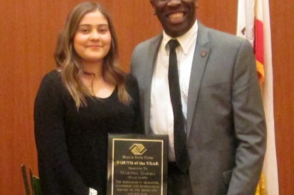Maritza Garcia, 2015 Youth of the Year, with Boys & Girls Clubs Executive Director James Littlejohn. Photo: Courtesy