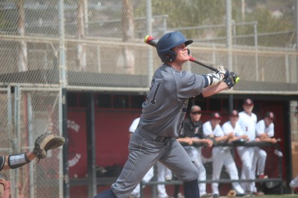 Jacob Roberson and the San Juan Hills baseball team were held to just three hits in a 7-0 loss to San Clemente on April 6. Photo: Steve Breazeale