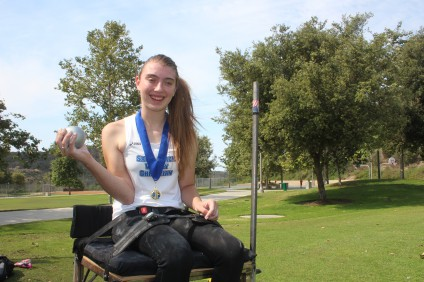 Kendall Stier will head to regional and national track and field events this summer to compete in the seated shot put event. Photo: Steve Breazeale