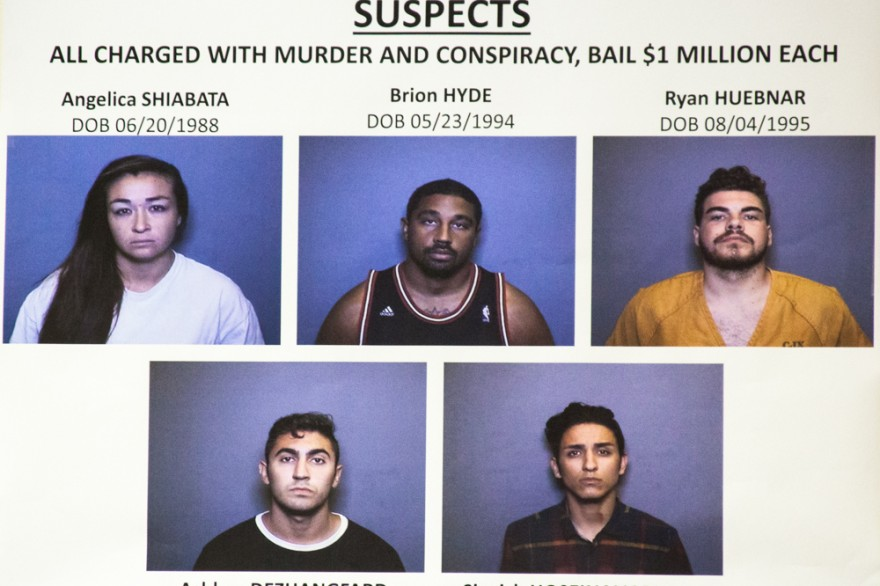 Five suspects were arrested Friday morning in connection with a July 13 homicide in San Juan Capistrano. Photo: Allison Jarrell