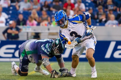 Brendan Fowler, left, was named a Major League Lacrosse All-Star for the second consecutive season in 2016. Photo: Courtesy Major League Lacrosse