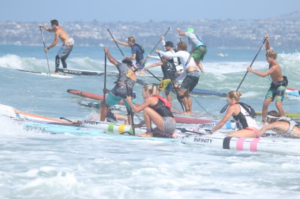 Hundreds of stand-up paddleboarders took to the water off the San Clemente Pier to compete in the 2016 Ocean Festival July 16-17. Photo: Eric Heinz