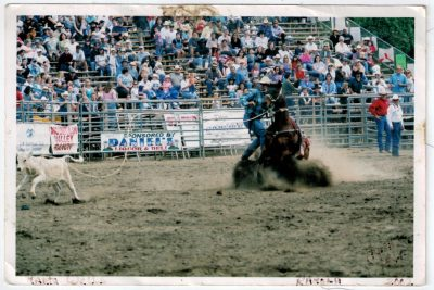 Marty Wells competes in a Professional Rodeo Cowboys Association Rodeo in Ramona, California. Photo: Courtesy Marty Wells