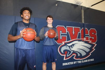 Garin Green, left, and Jackson Miller return with experience for the Capistrano Valley Christian boys basketball team. Photo: Steve Breazeale
