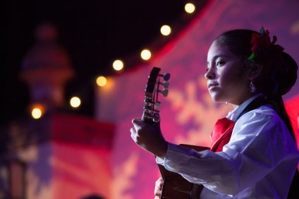 Evelyn Tiburcio, 9, of Lake Forest, performs with the San Juan Capistrano Youth Mariachi. Photo: Allison Jarrell