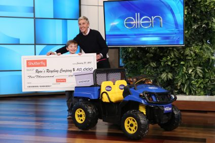 "Ryan Hickman, 7, of San Juan Capistrano, was recently invited onto ""The Ellen DeGeneres Show"" to talk about his business, Ryan's Recycling Company. Photo: Michael Rozman/Warner Bros."