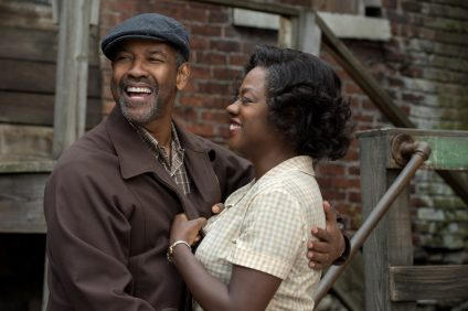 Denzel Washington plays Troy Maxson and Viola Davis plays Rose Maxson in Fences. Photo: Courtesy Paramount Pictures