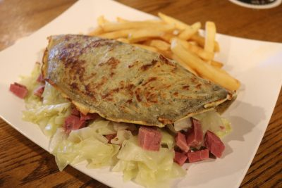 Molly Bloom's Corned Beef Boxty. Photo: Matt Cortina