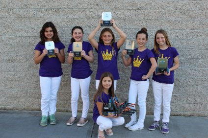 The Coding Queens of John S. Malcom Elementary are an all-girls robotics team. They have competed in regional competitions and will be making their way to the World Championships in Kentucky. Photo: Kristina Pritchett