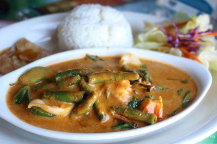Panang curry with shrimp and squid at Thai Paradise Restaurant. Photo: Matt Cortina
