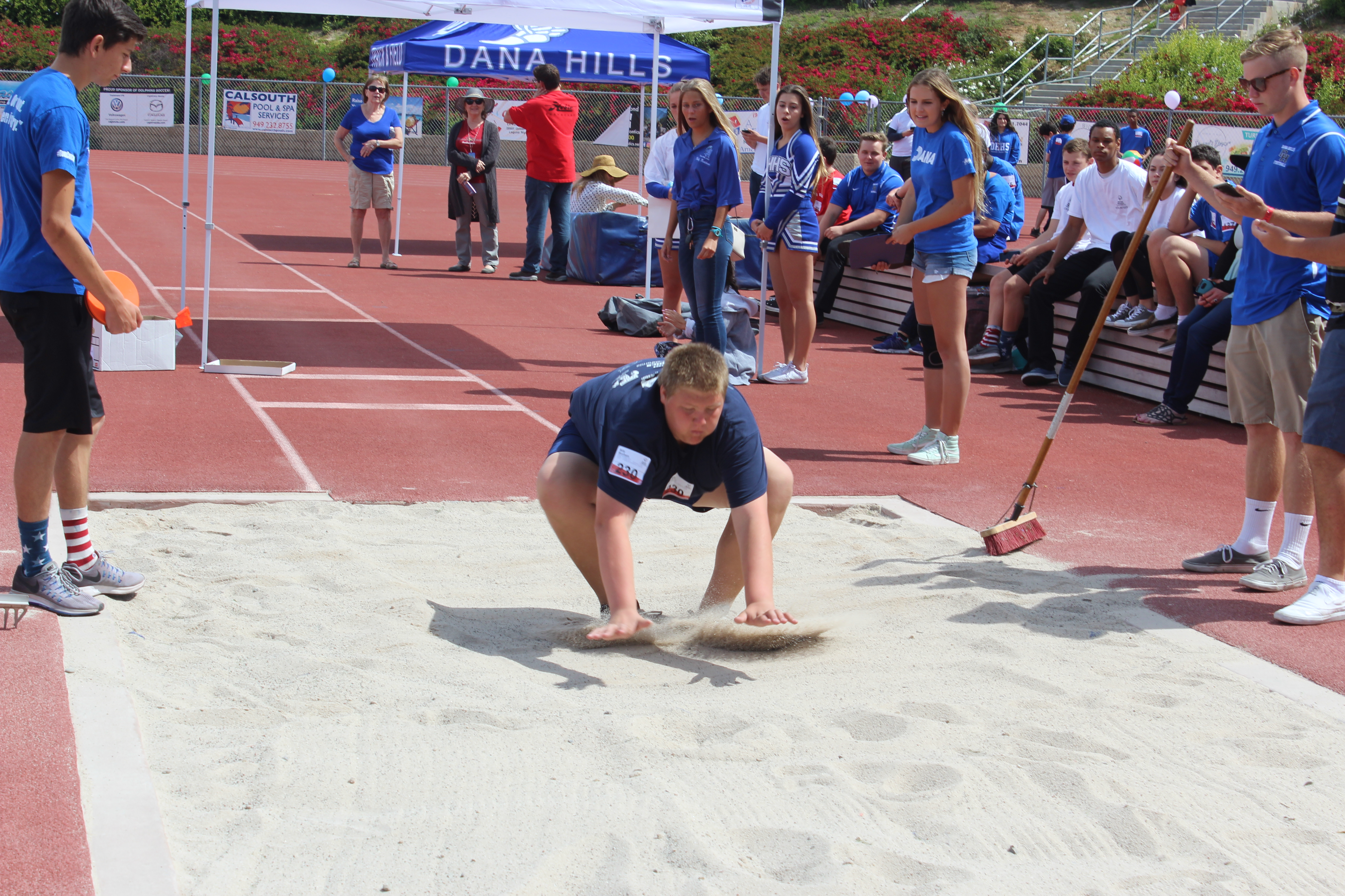 A CUSD student competes in the long jump during a Special Olympics event on April 17. Photo: Kristina Pritchett
