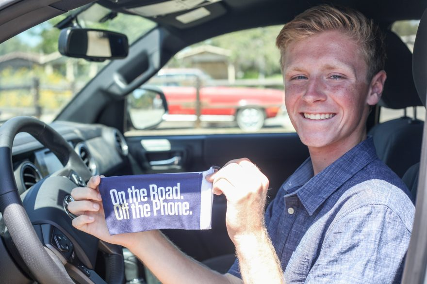 Dalton Bourne, 16, of San Juan Capistrano, received a luminary award from Disneyland Resort for his teen driver safety initiative. Photo: Allison Jarrell