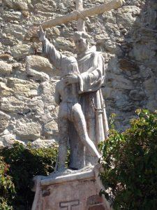 The Serra statue at Mission San Juan Capistrano. Photo: Jan Siegel