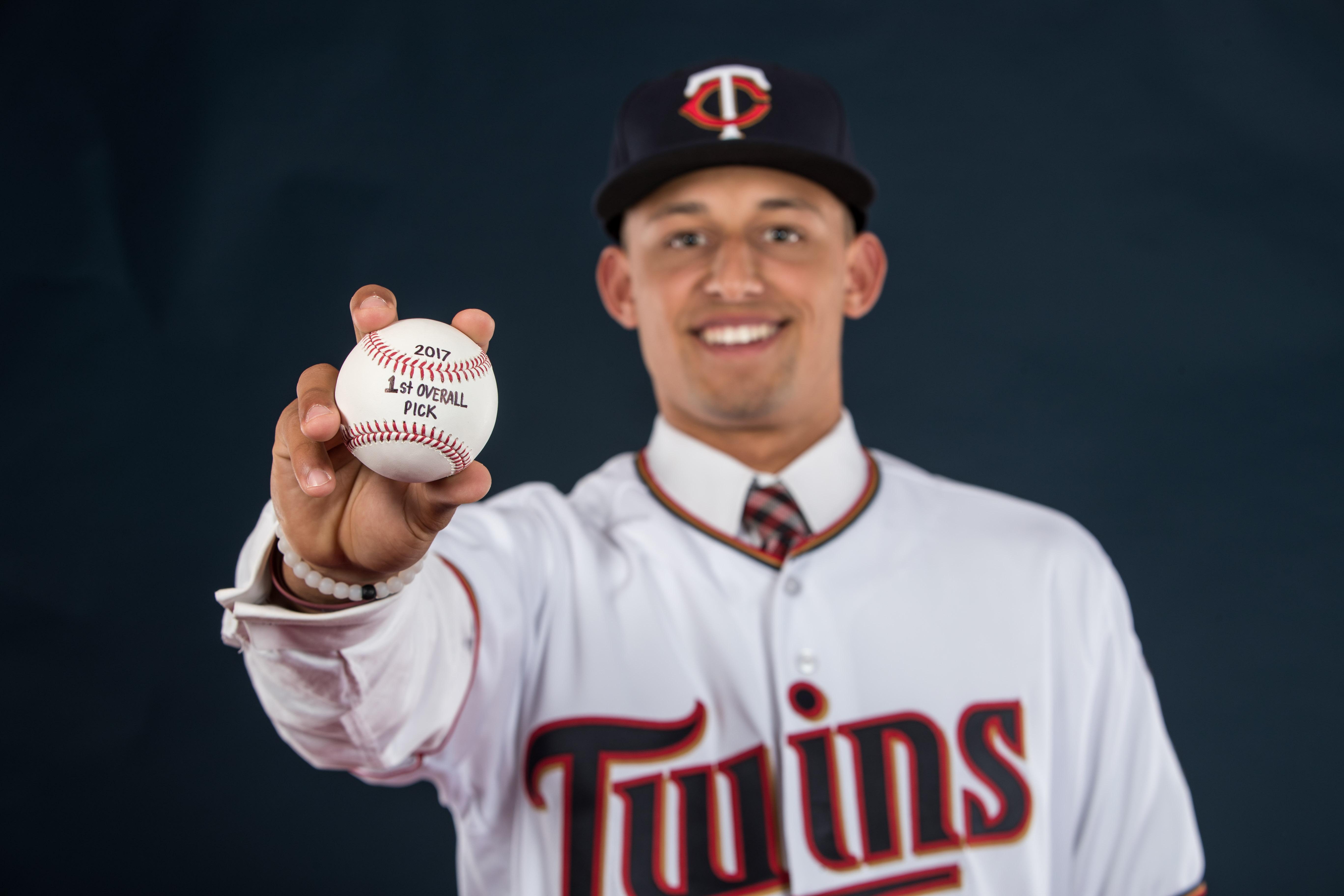 Royce Lewis was taken No. 1 overall in the 2017 MLB Draft. Photo: Brace Hammelgarn/Minnesota  Twins