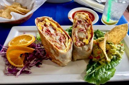 Breakfast Burrito. Los Patios Mexican Cocina