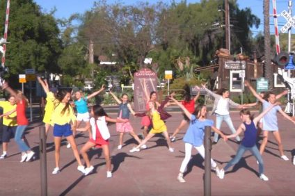 "Dancers from PAVE School of the Arts in Aliso Viejo participated in a promotional video for San Juan's ""depot district."" Image: YouTube"