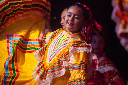 It's tradition for Ballet Folklorico de San Juan Capistrano to perform each year at the city's tree lighting ceremony. Photo: Allison Jarrell