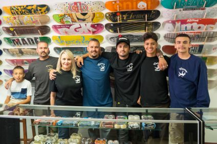 Capistrano Skate celebrated its grand opening with a chamber of commerce ribbon cutting on July 29. Photo: Allison Jarrell