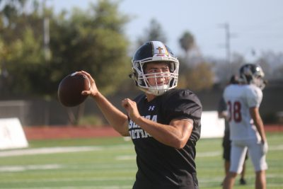 JSerra's Matt Robinson is averaging 279 passing yards per game, the fifth-highest mark in Orange County. Photo: Steve Breazeale