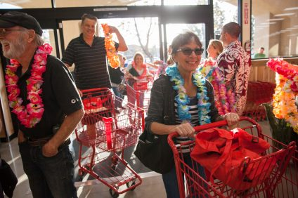 Shoppers begin to explore the new Trader Joe's after the grand opening on Oct. 11. Photo: Allison Jarrell