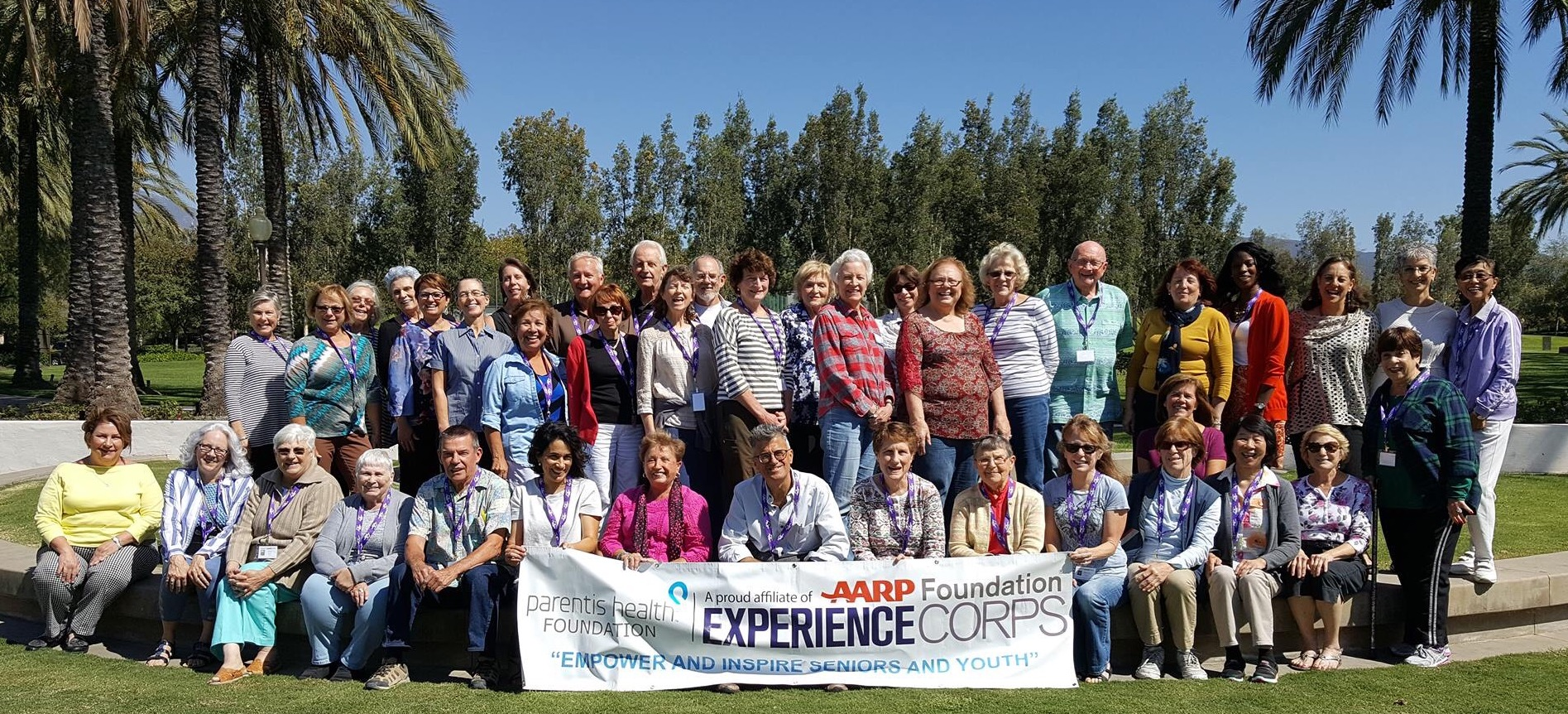 AARP Experience Corps tutors pose for a photo after completing their training over the summer. Photo: Courtesy of Karen Banse