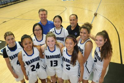 The Saddleback Valley Christian girls basketball team has a new coach and a new-look roster this season. Photo: Steve Breazeale