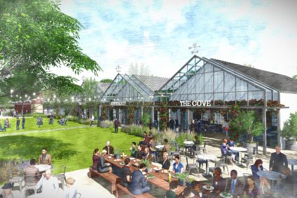 A rendering of the River Street Marketplace project.