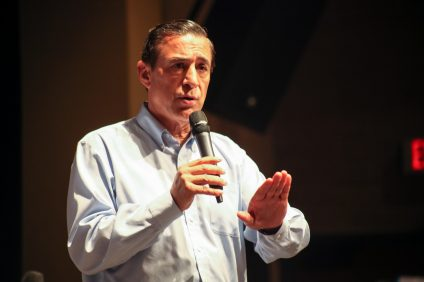 Rep. Darrell Issa (R-Calif.) hosted a town hall meeting on June 3 at San Juan Hills High School in San Juan Capistrano. Photo: Allison Jarrell