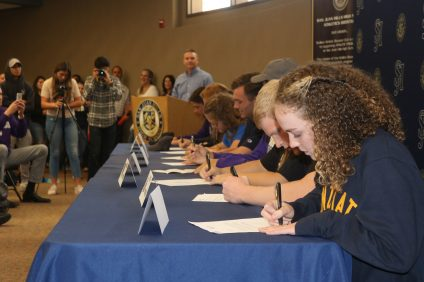San Juan Hills athletes sign their national letters of intent on Signing Day Feb. 7. Photo: Zach Cavanagh