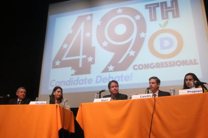 49th District Democratic Congressional Debate. Photo: Eric Heinz