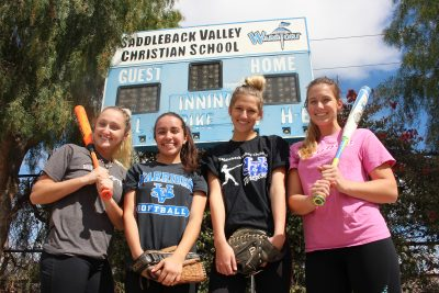 Lauren Westcott, Haley Martnick, Victoria Verutto and Caddie Viter have already helped Saddleback Valley Christian bounce back from a winless 2017 and look for league success. Photo: Zach Cavanagh