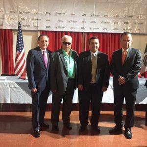 San Juan Capistrano Mayor Sergio Farias (second right) with Ensenada, Mexico representatives. Photo; Courtesy of Sergio Farias