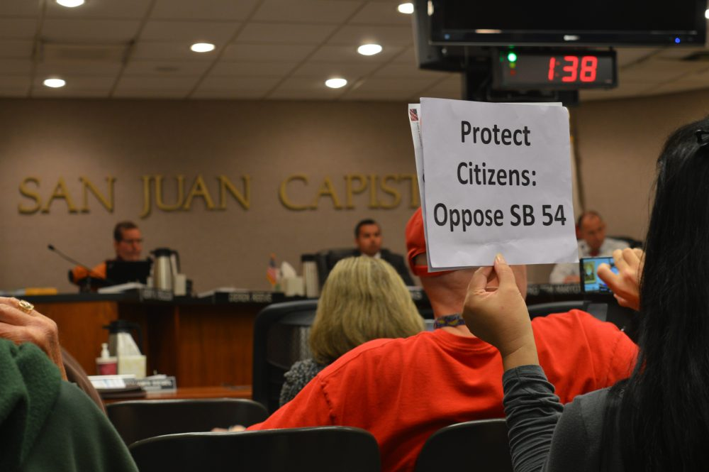 One of the people in favor of the City Council's resolution.