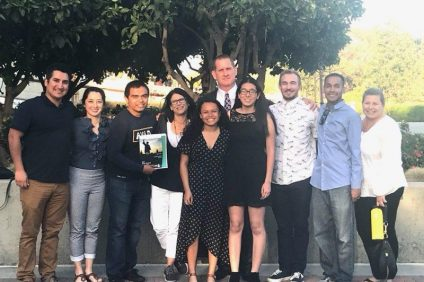 San Juan Hills High School AVID teachers and senior award winners. Photo: Courtesy