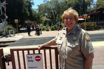 Lana VanSant, train kiosk coordinator for San Juan Capistrano's Associated Senior Action Program that assists the city's police services. Photo: Courtesy