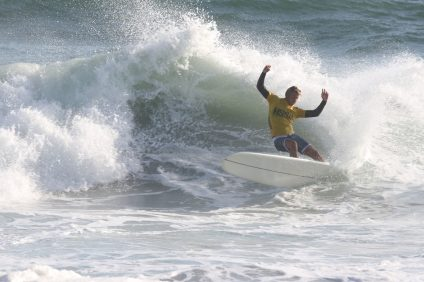 San Juan Hills alum and Saddleback College student-athlete Kevin Skvarna won his second consecutive NSSA college lonboard national championship. Photo: Courtesy