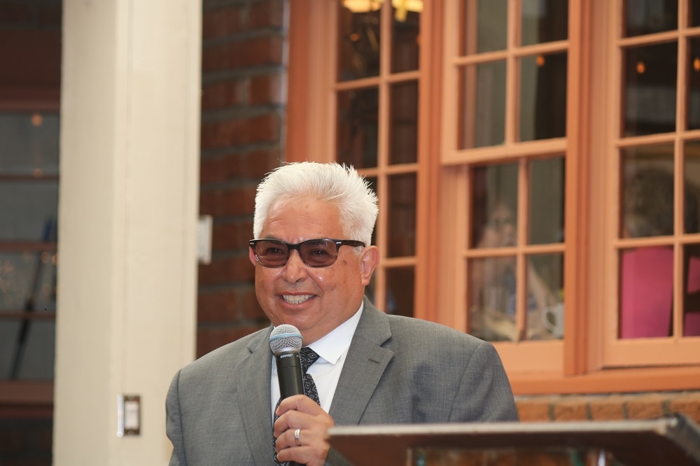 Ricardo Beas speaks during the 2018 Chamber of Commerce Installation Dinner and Awards on Thursday, July 12. Ricardo and his wife, Rosa, were named man and woman of the year.