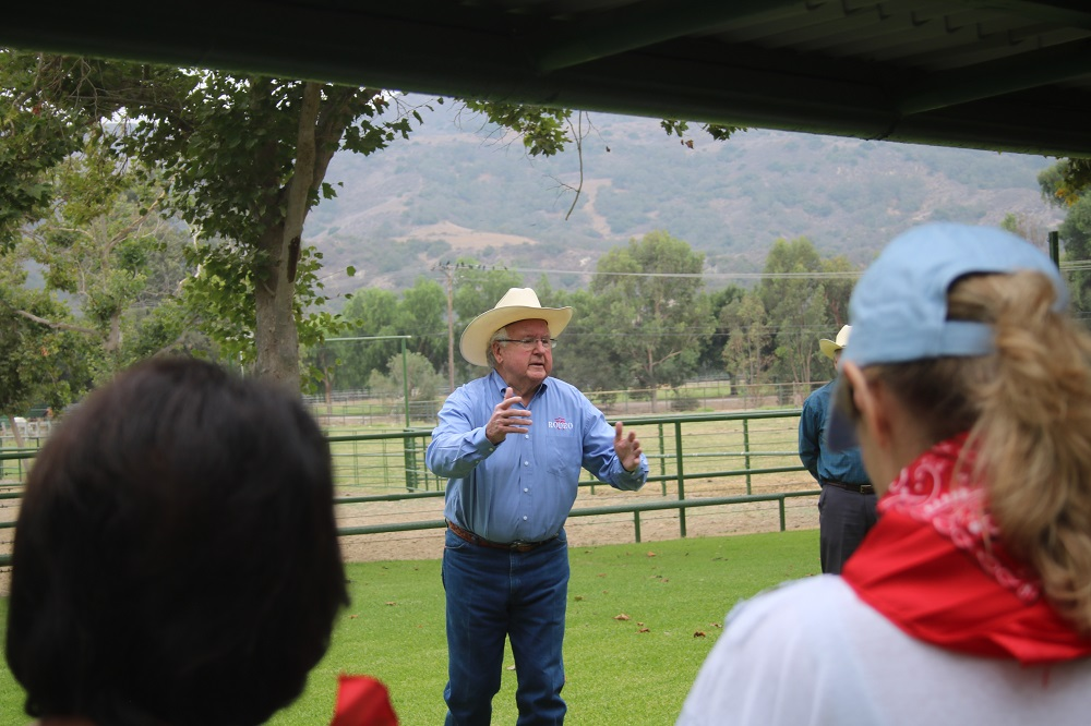 Rancho Mission Viejo CEO Tony Moiso tells visitors the history of the historic cow camp and the Rancho Mission Viejo land on Friday, Aug. 24. Photo: Alex Groves