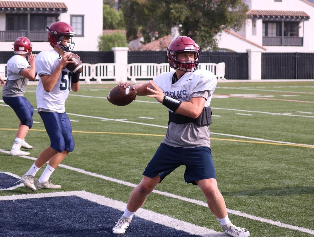 Senior quarterback James Mott (front) returns to lead the St. Margaret offense. Photo: Zach Cavanagh