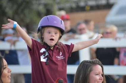A young rider does a demonstration during the 40th Annual Shea Center Barbecue and Family Faire. Photo: Alex Groves